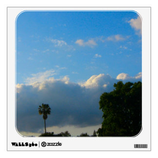 clouds and trees photograph wall sticker