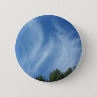 Clouds and trees pinback button
