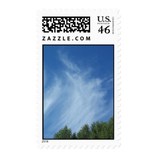 Clouds and trees stamp