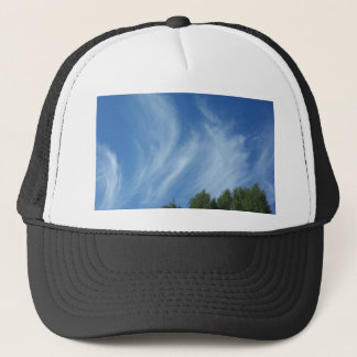 Clouds and trees trucker hat