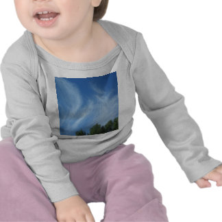 Clouds and trees t shirts