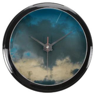 Clouds Aqua Clocks