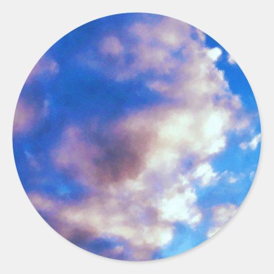 Clouds Artwork Classic Round Sticker
