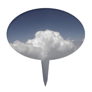 Clouds at 30,000 feet from an airplane window cake topper