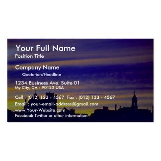 Clouds at sunset business card template