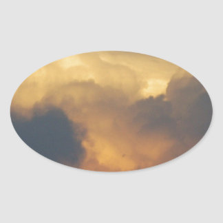 Clouds at Sunset Cloud Photography Gold Clouds Stickers