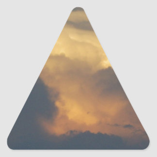 Clouds at Sunset Cloud Photography Gold Clouds Sticker