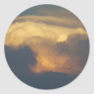 Clouds at Sunset Cloud Photography Gold Clouds Round Sticker