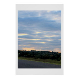 Clouds at Sunset Photo Poster