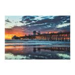 Clouds at the Oceanside Pier Stretched Canvas Prints