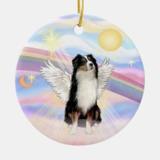 Clouds - Australian Shepherd Angel (tri) Ceramic Ornament