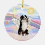 Clouds - Australian Shepherd Angel (tri) Christmas Ornaments