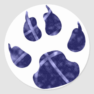 Clouds Ball Claw Round Stickers