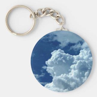 Clouds Basic Round Button Keychain