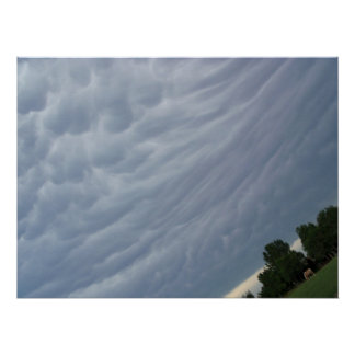 Clouds before a storm canvas photography print