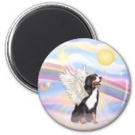 Clouds - Bernese Mountain Dog Angel 2 Inch Round Magnet