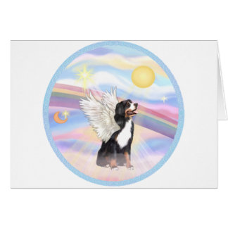 Clouds - Bernese Mountain Dog Angel Card