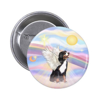 Clouds - Bernese Mountain Dog Angel Pinback Button