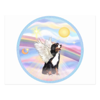 Clouds - Bernese Mountain Dog Angel Postcard