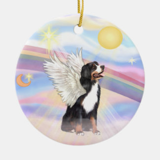 Clouds - Bernese Mountain Dog Ceramic Ornament