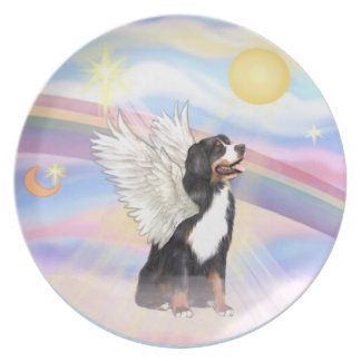Clouds - Bernese Mountain Dog Dinner Plate
