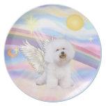 Clouds - Bichon Frise Angel (#1) Dinner Plate