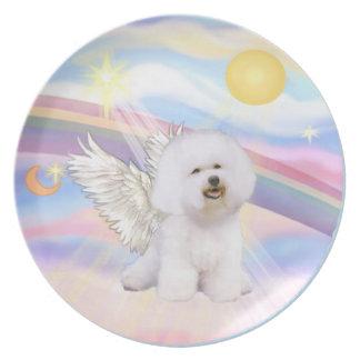 Clouds - Bichon Frise Angel (#1) Melamine Plate