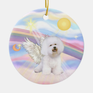 Clouds - Bichon Frise Angel Ceramic Ornament