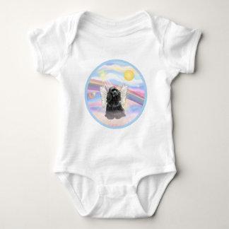 Clouds - Black Cocker Spaniel Baby Bodysuit