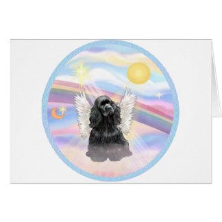 Clouds - Black Cocker Spaniel Card