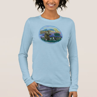 Clouds - Black Cocker Spaniel Long Sleeve T-Shirt