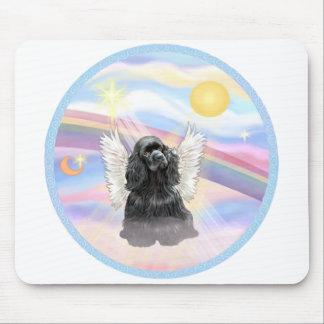 Clouds - Black Cocker Spaniel Mouse Pad