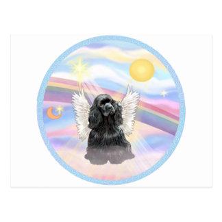Clouds - Black Cocker Spaniel Postcard