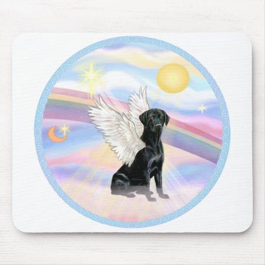 Clouds - Black Labrador Retriever Angel Mouse Pad
