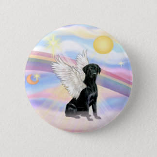 Clouds - Black Labrador Retriever Angel Pinback Button