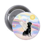 Clouds - Black Labrador Retriever Angel Pinback Button
