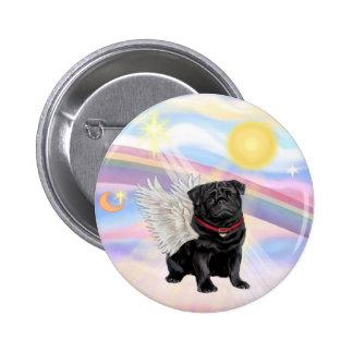 Clouds - Black Pug Angel Pin