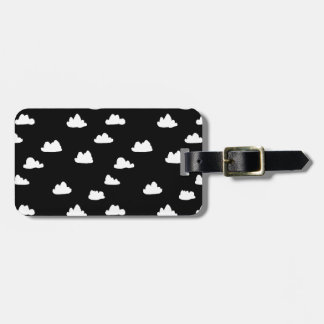 Clouds / Black/White Scandi / Andrea Lauren Bag Tag