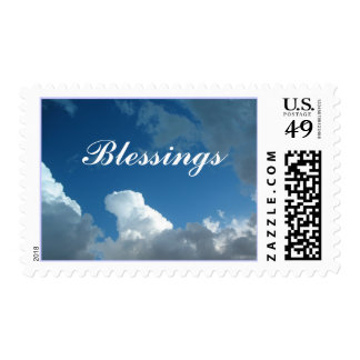 clouds Blessings Postage