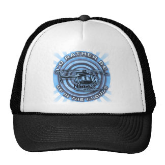Clouds Blue Helicopter Trucker Hat