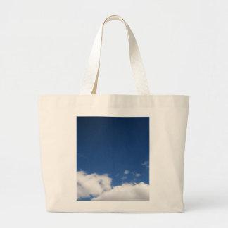 Clouds & Blue Sky Large Tote Bag