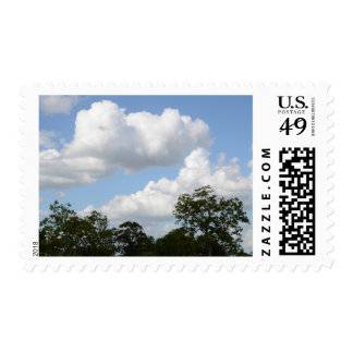 Clouds Blue Sky Treetops First Class Stamps