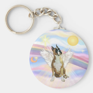 Clouds - Boxer ANgel (cropped ears #1) Key Chain