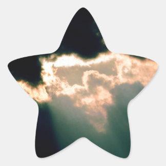 Clouds Break Columbus Indiana Star Sticker