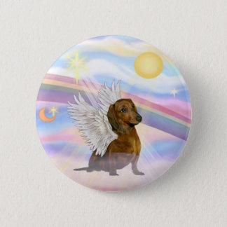 Clouds - Brown/Red Dachshund Angel Button