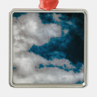 Clouds changing metal ornament
