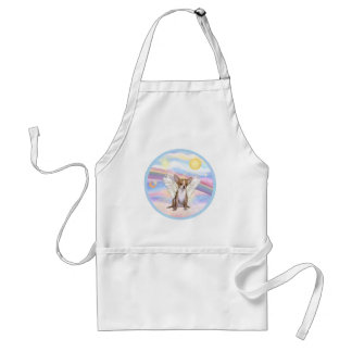 Clouds - Chihuahua Angel (light red) Adult Apron