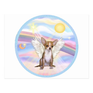 Clouds - Chihuahua Angel light red Post Card