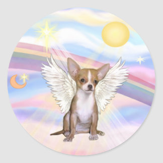 Clouds - Chihuahua Angel light red Sticker