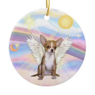 Clouds - Chihuahua (light red) Christmas Tree Ornament